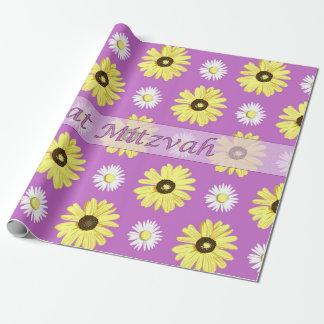 Papel radiante del abrigo de la orquídea de las papel de regalo
