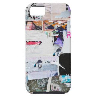 Papel rasgado estilo de Banksy de la pared de la p iPhone 5 Case-Mate Carcasa