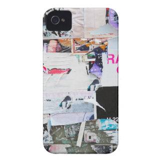 Papel rasgado estilo de Banksy de la pared de la p Case-Mate iPhone 4 Cárcasa