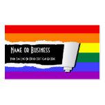 Papel rasgado orgullo del arco iris (efecto) plantillas de tarjetas de visita