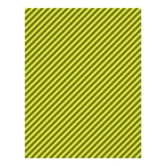 Papel rayado amarillo del libro de recuerdos plantilla de membrete
