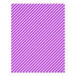 Papel rayado púrpura del libro de recuerdos membrete personalizado