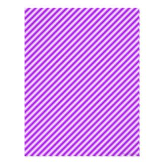 Papel rayado púrpura del libro de recuerdos plantilla de membrete