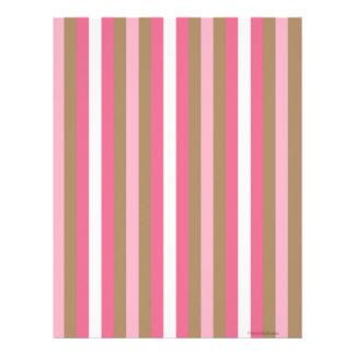 Papel rayado rosado del libro de recuerdos de Brow Membretes Personalizados