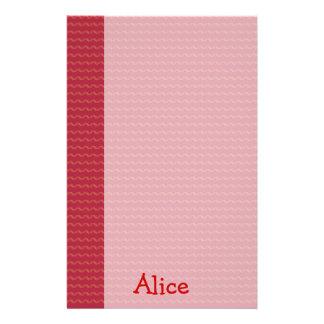 Papel rojo con nombre - efectos de escritorio del  papelería personalizada