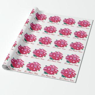 Papel rojo del abrigo de las filas de los papel de regalo