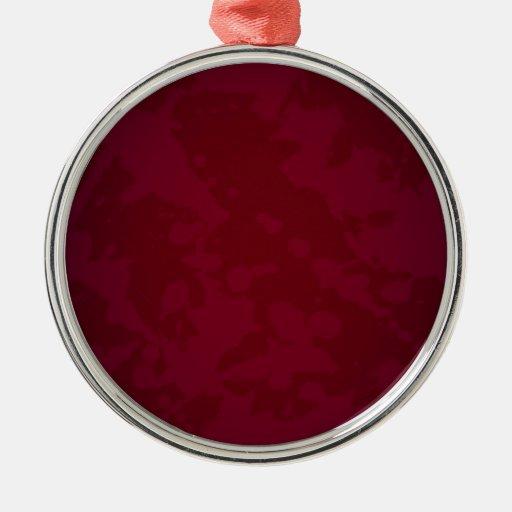 Papel rojo manchado ornamento para arbol de navidad