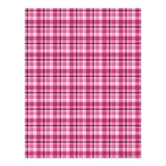 Papel rosado del libro de recuerdos de la tela esc membrete a diseño