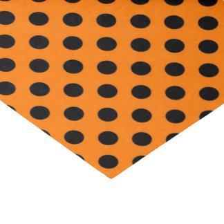 papel seda anaranjado negro del modelo de lunar papel de seda pequeño