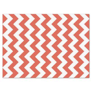 Papel seda anaranjado y blanco del zigzag papel de seda grande