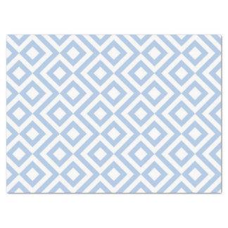 Papel seda azul claro y blanco del meandro papel de seda grande