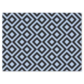 Papel seda azul claro y negro del meandro papel de seda grande