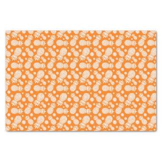 Papel seda blanco anaranjado de la piña y de la papel de seda pequeño
