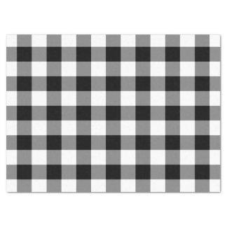 Papel seda blanco y negro del modelo de la guinga
