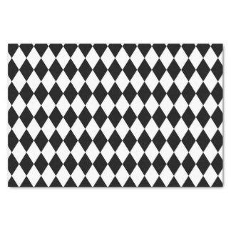 Papel seda blanco y negro del modelo del Harlequin Papel De Seda Pequeño