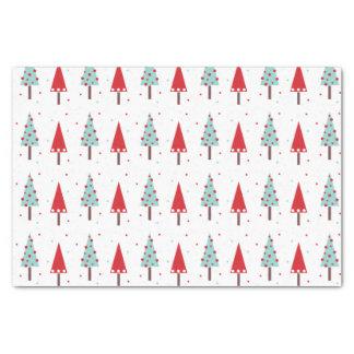 Papel seda caprichoso del modelo de los árboles de papel de seda pequeño