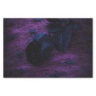 Papel seda color de rosa negro papel de seda pequeño