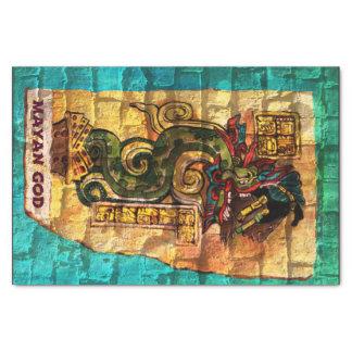 Papel seda con la impresión maya de dios papel de seda pequeño