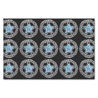 Papel seda cristalino de la estrella del Pentagram Papel De Seda Pequeño