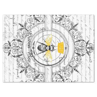 Papel seda de Decoupage de la abeja reina Papel De Seda Grande