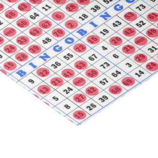 Papel seda de juego de la tarjeta del bingo papel de seda mediano