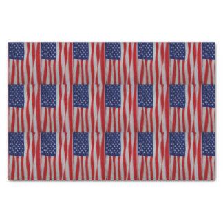 Papel seda de la bandera americana papel de seda pequeño
