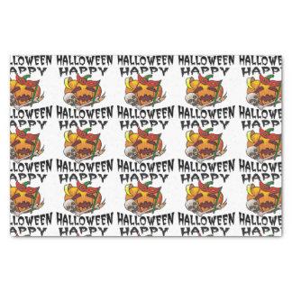 Papel seda de la calabaza del fiesta de Halloween Papel De Seda Pequeño