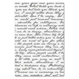 Papel seda de la escritura de la escritura papel de seda pequeño