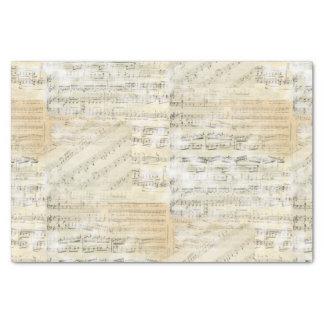 Papel seda de la partitura del vintage papel de seda pequeño