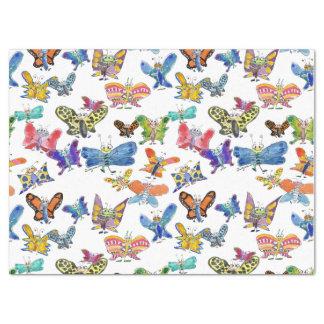 Papel seda de las mariposas del dibujo animado papel de seda grande