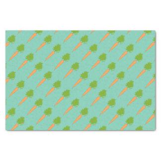 Papel seda de las zanahorias papel de seda pequeño