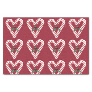 Papel seda de los corazones del bastón de caramelo papel de seda pequeño