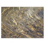 Papel seda de oro abstracto del agua 2 de la