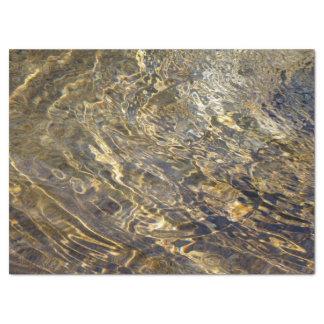 Papel seda de oro abstracto del agua 2 de la papel de seda grande