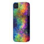Papel seda del arco iris iPhone 4 carcasas