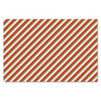 Papel seda del día de fiesta de la raya del papel de seda pequeño