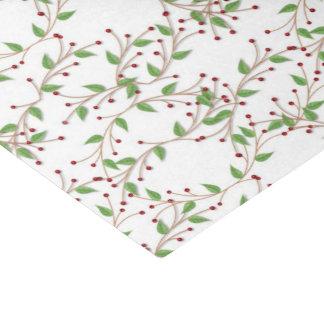 Papel seda del día de fiesta del modelo del acebo papel de seda pequeño