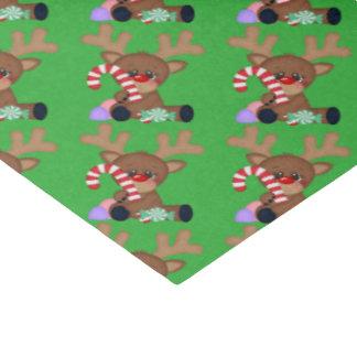 Papel seda del día de fiesta del reno del navidad papel de seda mediano