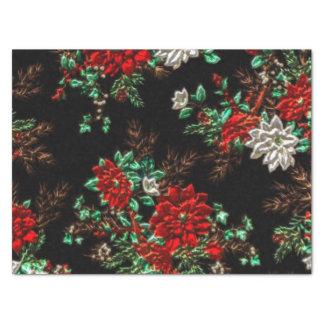 Papel seda del estampado de flores del navidad de papel de seda mediano