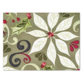 Papel seda del estampado de flores del navidad papel de seda mediano