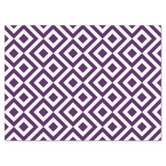 Papel seda del meandro de la púrpura y del blanco papel de seda grande