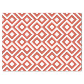 Papel seda del meandro del naranja y del blanco papel de seda grande