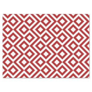 Papel seda del meandro del rojo y del blanco papel de seda grande