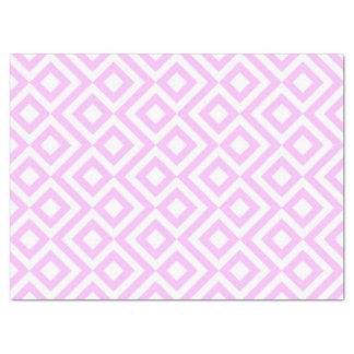 Papel seda del meandro del rosa y del blanco papel de seda grande