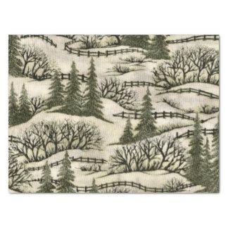 Papel seda del modelo de la escena del navidad papel de seda mediano