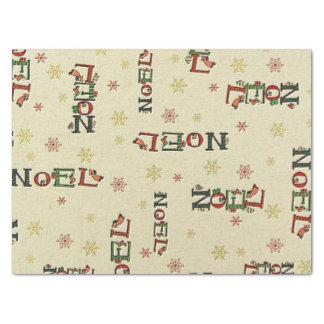 Papel seda del modelo de Noel del navidad Papel De Seda Mediano