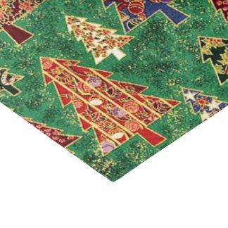 Papel seda del modelo del árbol de navidad papel de seda pequeño