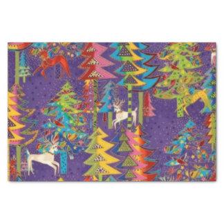 Papel seda del modelo del navidad de la diversión papel de seda pequeño
