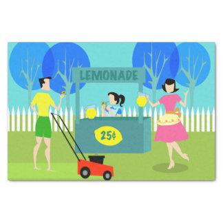 Papel seda del puesto de limonadas de los niños