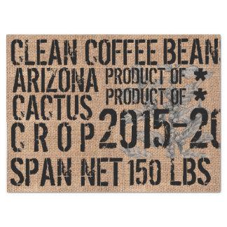 Papel seda del puf del café - paisaje papel de seda grande